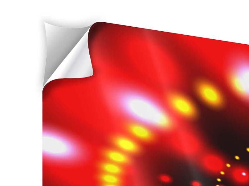 Klebeposter 4-teilig Abstraktes Lichtspiel