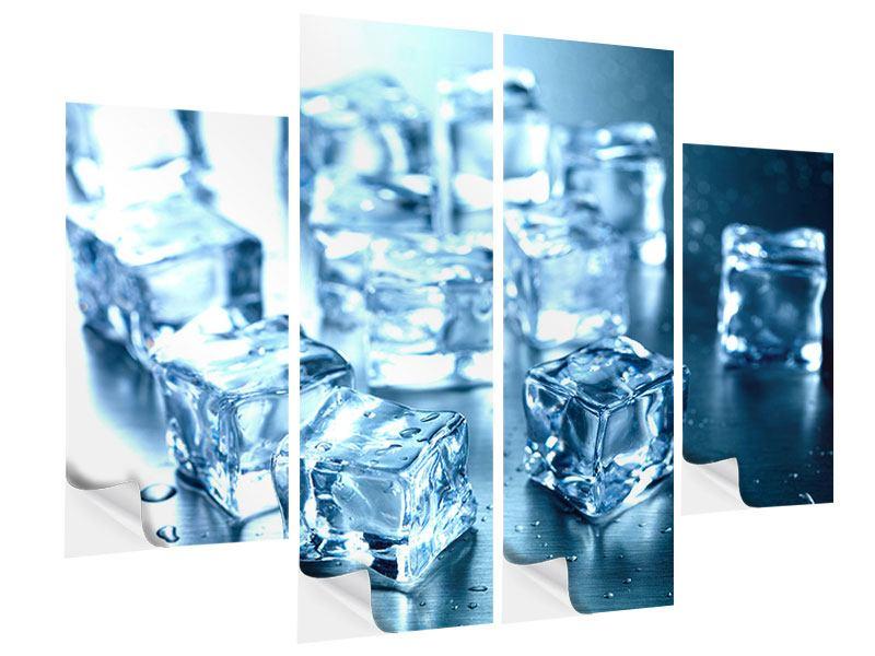 Klebeposter 4-teilig Viele Eiswürfel