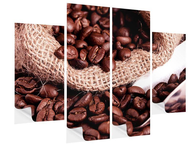 Klebeposter 4-teilig XXL Kaffeebohnen