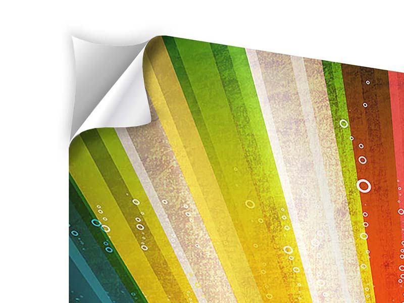 Klebeposter 4-teilig Abstrakte Farbstrahlen