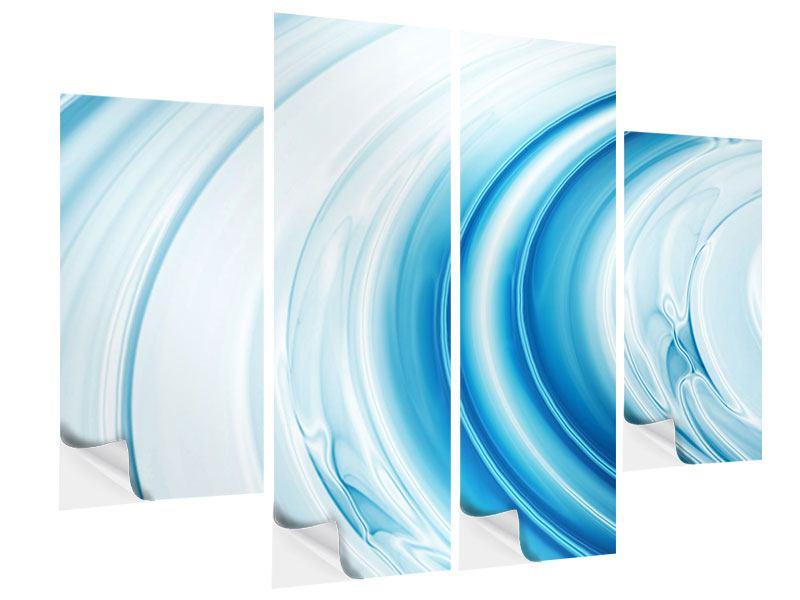 Klebeposter 4-teilig Abstraktes Glas