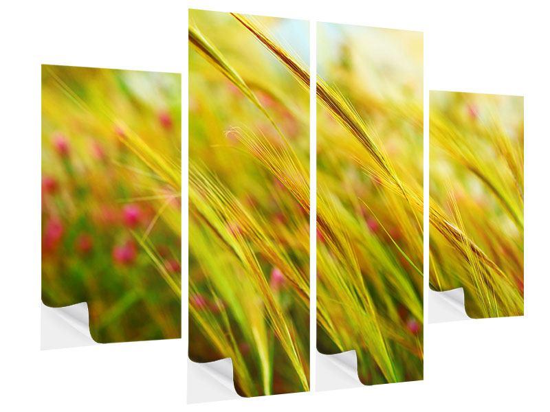 Klebeposter 4-teilig Das Weizenfeld