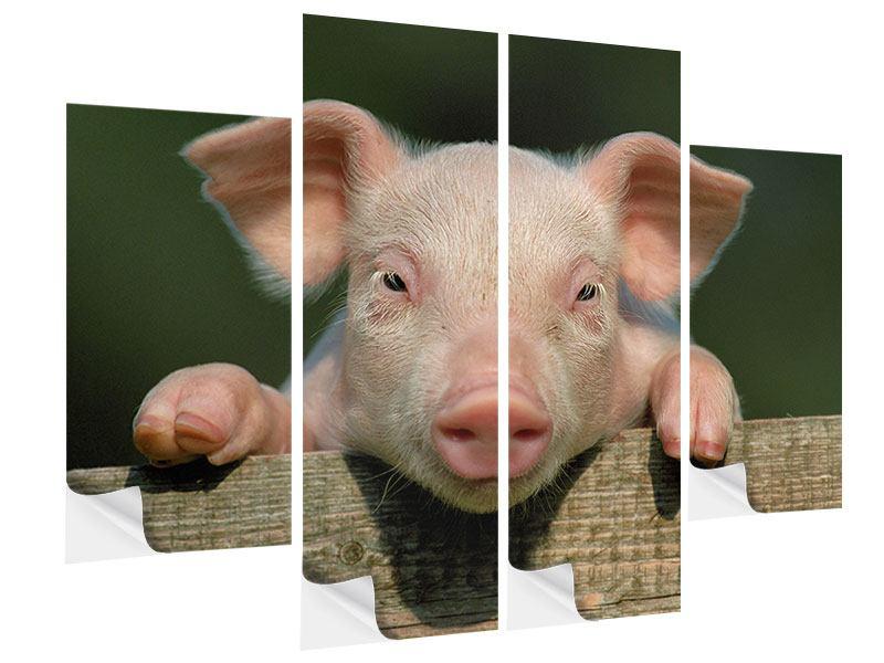 Klebeposter 4-teilig Schweinchen Namens Babe