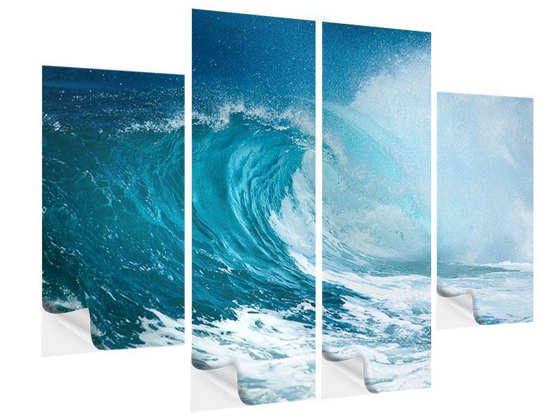 Klebeposter 4-teilig Die perfekte Welle
