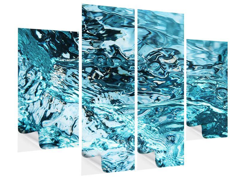 Klebeposter 4-teilig Schönheit Wasser
