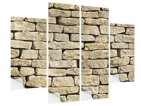 Klebeposter 4-teilig Alte Mauer