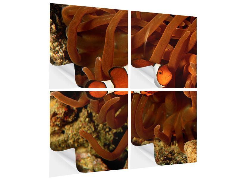 Klebeposter 4-teilig Nemo