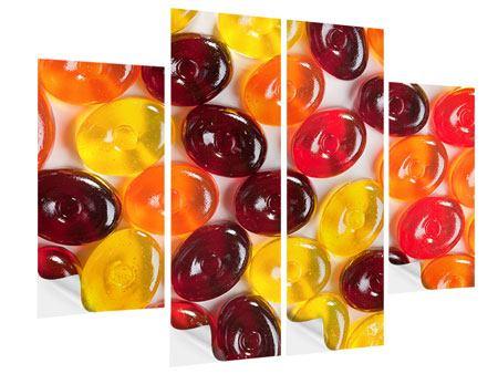 Klebeposter 4-teilig Bonbons
