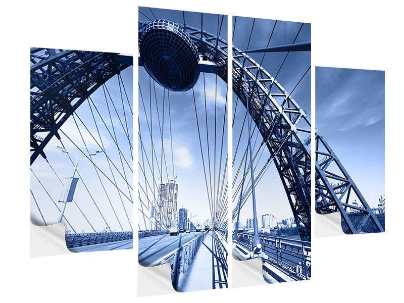 Klebeposter 4-teilig Schiwopisny-Brücke