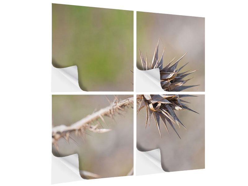 Klebeposter 4-teilig Die Wüstenblume