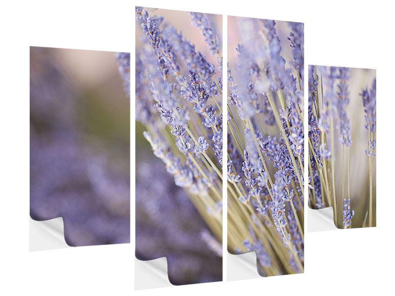 Klebeposter 4-teilig Lavendel XXL