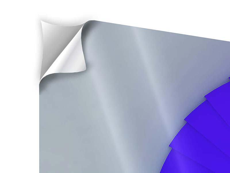 Klebeposter 4-teilig Bunte Wendeltreppe 3D