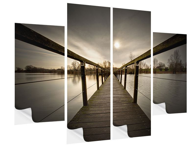 Klebeposter 4-teilig Die Holzbrücke