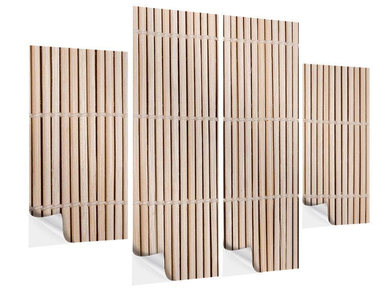 Klebeposter 4-teilig Lucky Bamboo
