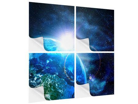 Klebeposter 4-teilig Galaxien