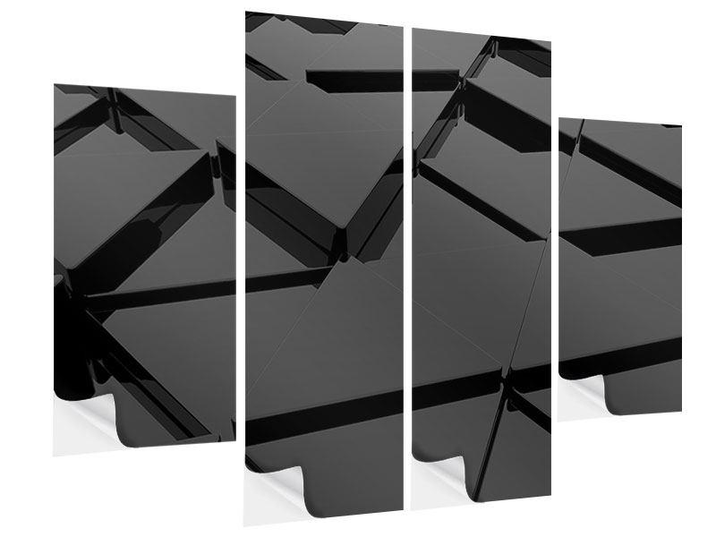 Klebeposter 4-teilig 3D-Dreiecksflächen