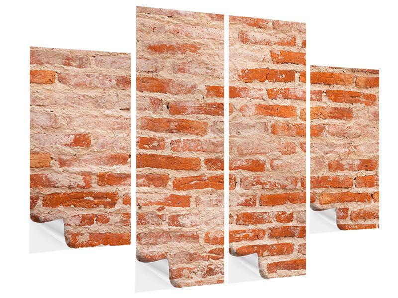 Klebeposter 4-teilig Mauerwerk