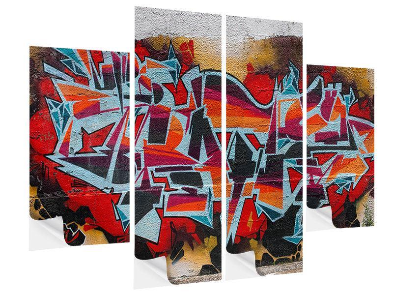 Klebeposter 4-teilig New York Graffiti