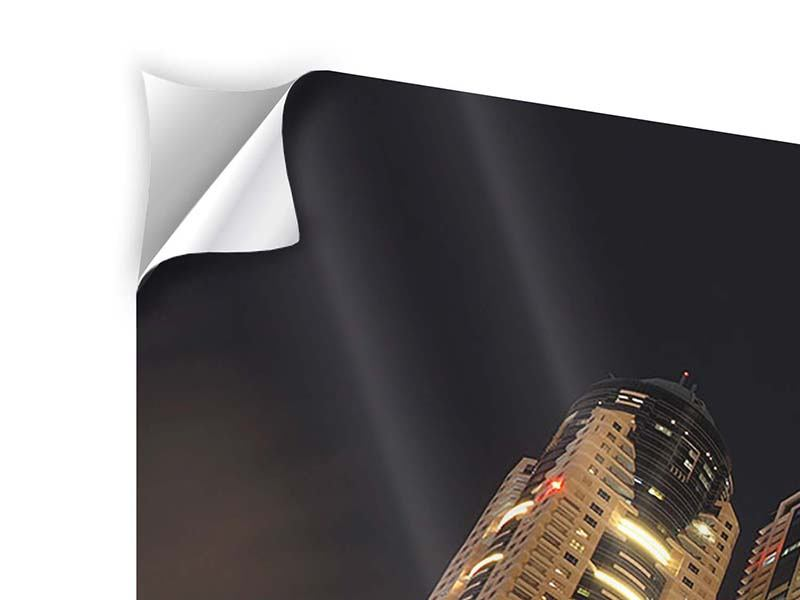 Klebeposter 4-teilig Wolkenkratzer Dubai Marina