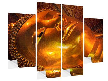 Klebeposter 4-teilig Liegender Buddha