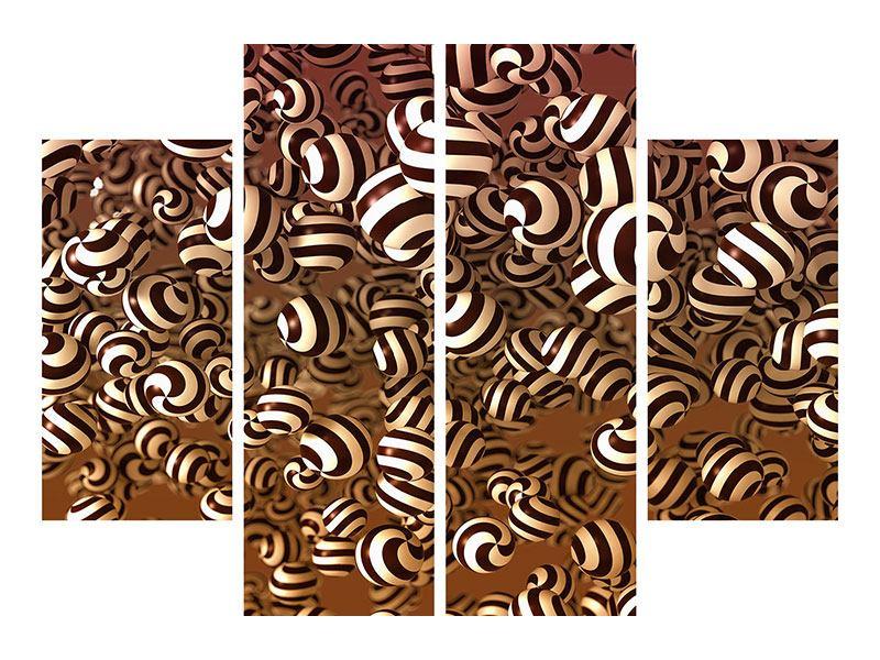 Klebeposter 4-teilig Schokoladen-Bonbons