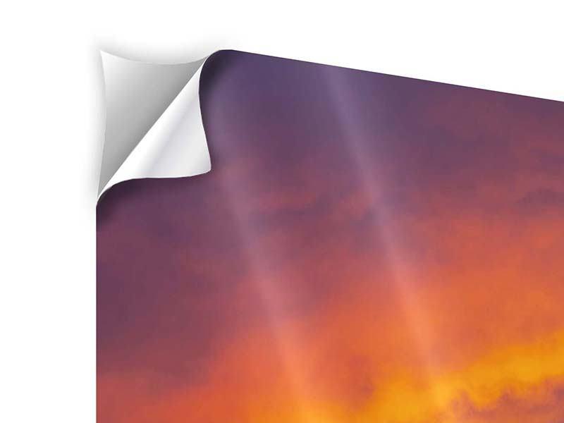 Klebeposter 4-teilig Sonnenuntergang im Canon