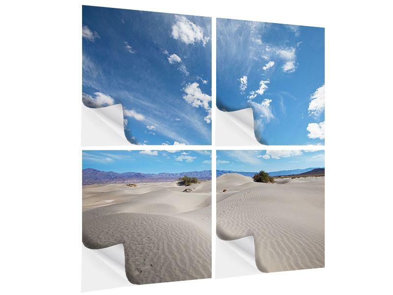 Klebeposter 4-teilig Wüstenlandschaft