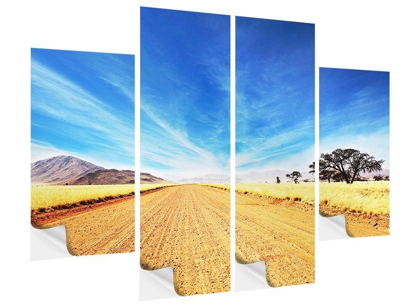 Klebeposter 4-teilig Eine Landschaft in Afrika