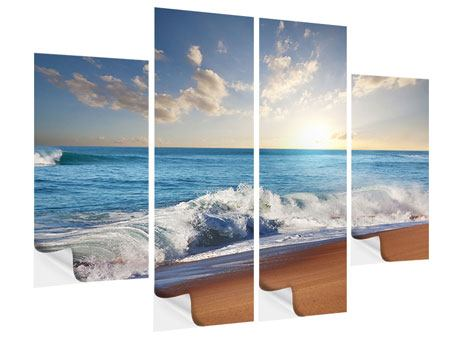 Klebeposter 4-teilig Die Wellen des Meeres