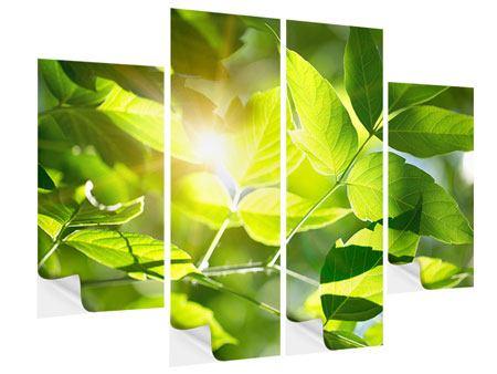 Klebeposter 4-teilig Es grünt so grün