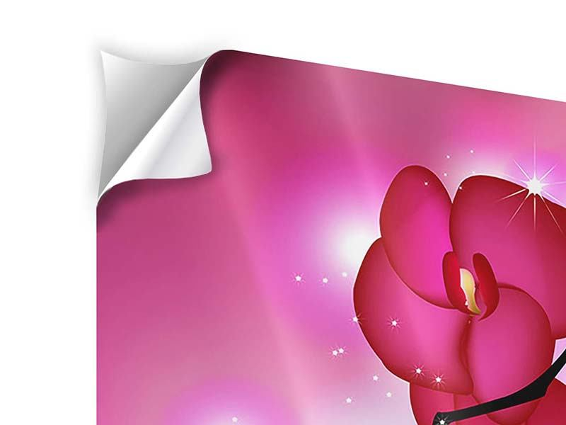 Klebeposter 4-teilig Orchideenmärchen