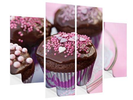 Klebeposter 4-teilig Muffins