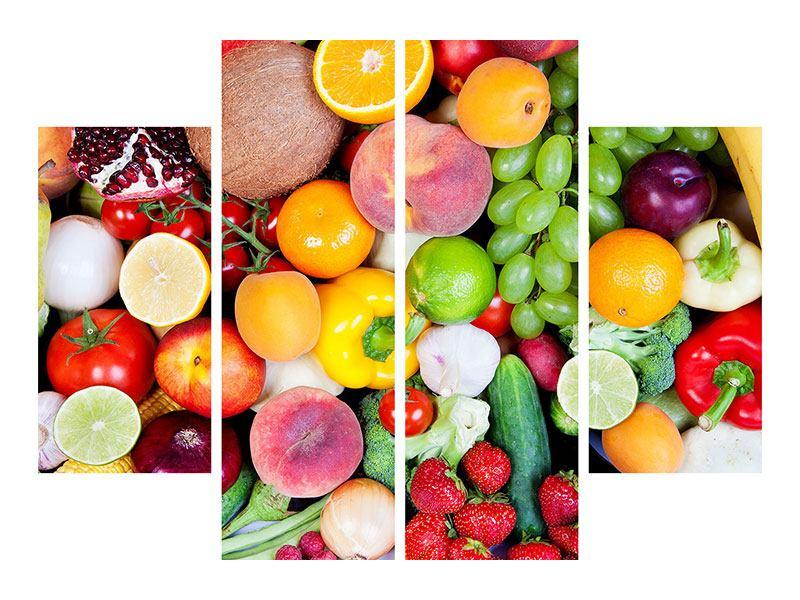 Klebeposter 4-teilig Frisches Obst