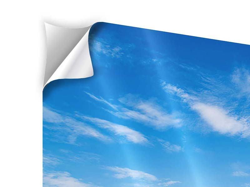 Klebeposter 4-teilig Blaue Lagune