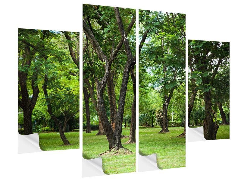 Klebeposter 4-teilig Kirschbaum-Garten