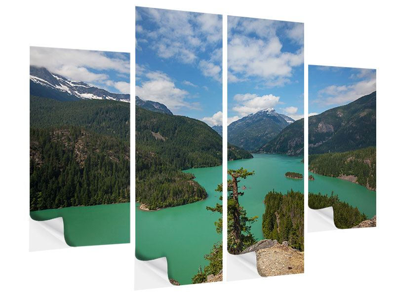 Klebeposter 4-teilig Diablo Bergsee