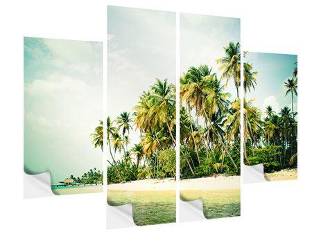 Klebeposter 4-teilig Tobago Cays