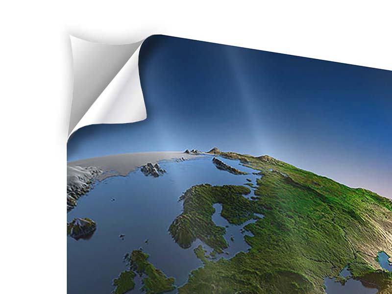 Klebeposter 4-teilig Sonne und Erde