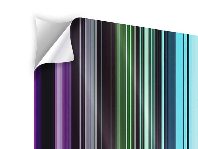 Klebeposter 4-teilig Bunte Streifen