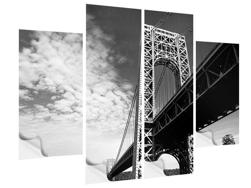 Klebeposter 4-teilig Georg-Washington-Bridge