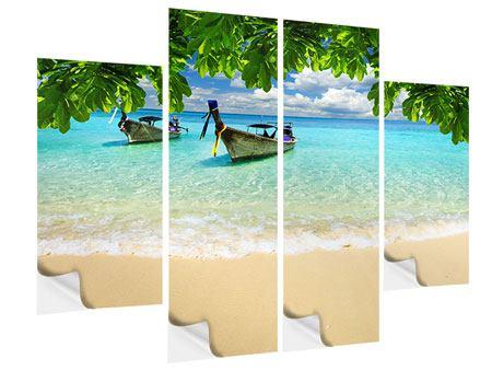 Klebeposter 4-teilig Ein Blick auf das Meer