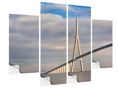Klebeposter 4-teilig Pont de Normandie