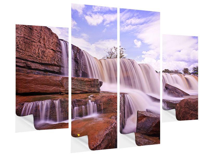Klebeposter 4-teilig Himmlischer Wasserfall