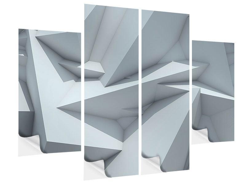 Klebeposter 4-teilig 3D-Kristallo