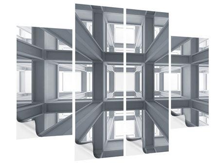 Klebeposter 4-teilig Räume
