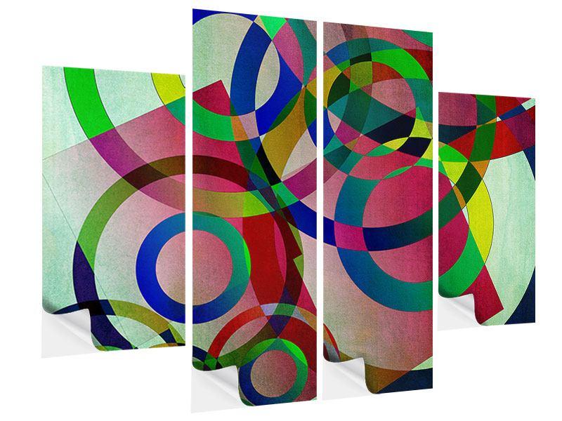 Klebeposter 4-teilig Wandkunst