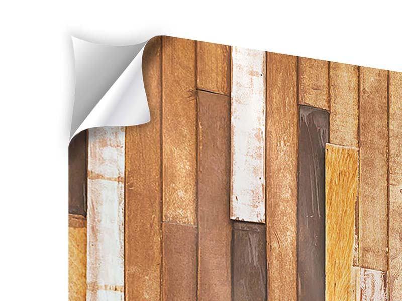 Klebeposter 4-teilig Designholz