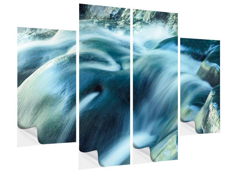 Klebeposter 4-teilig Das Fliessende Wasser