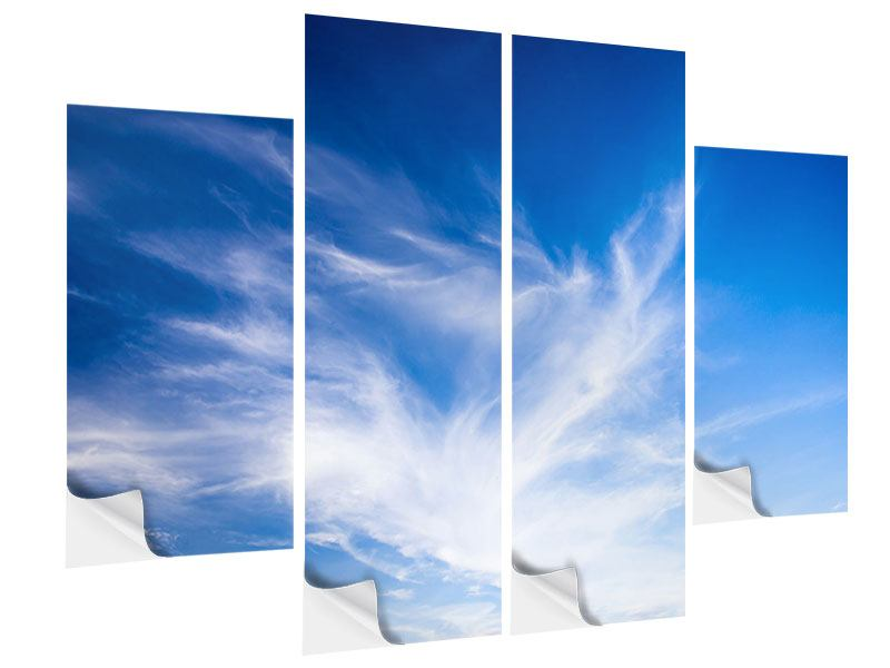 Klebeposter 4-teilig Schleierwolken