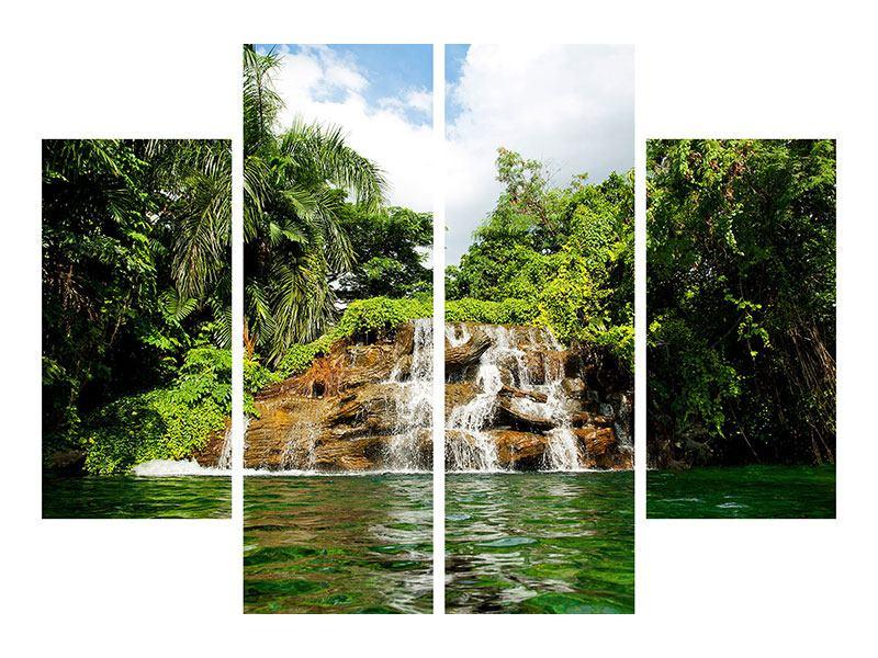Klebeposter 4-teilig Lagune